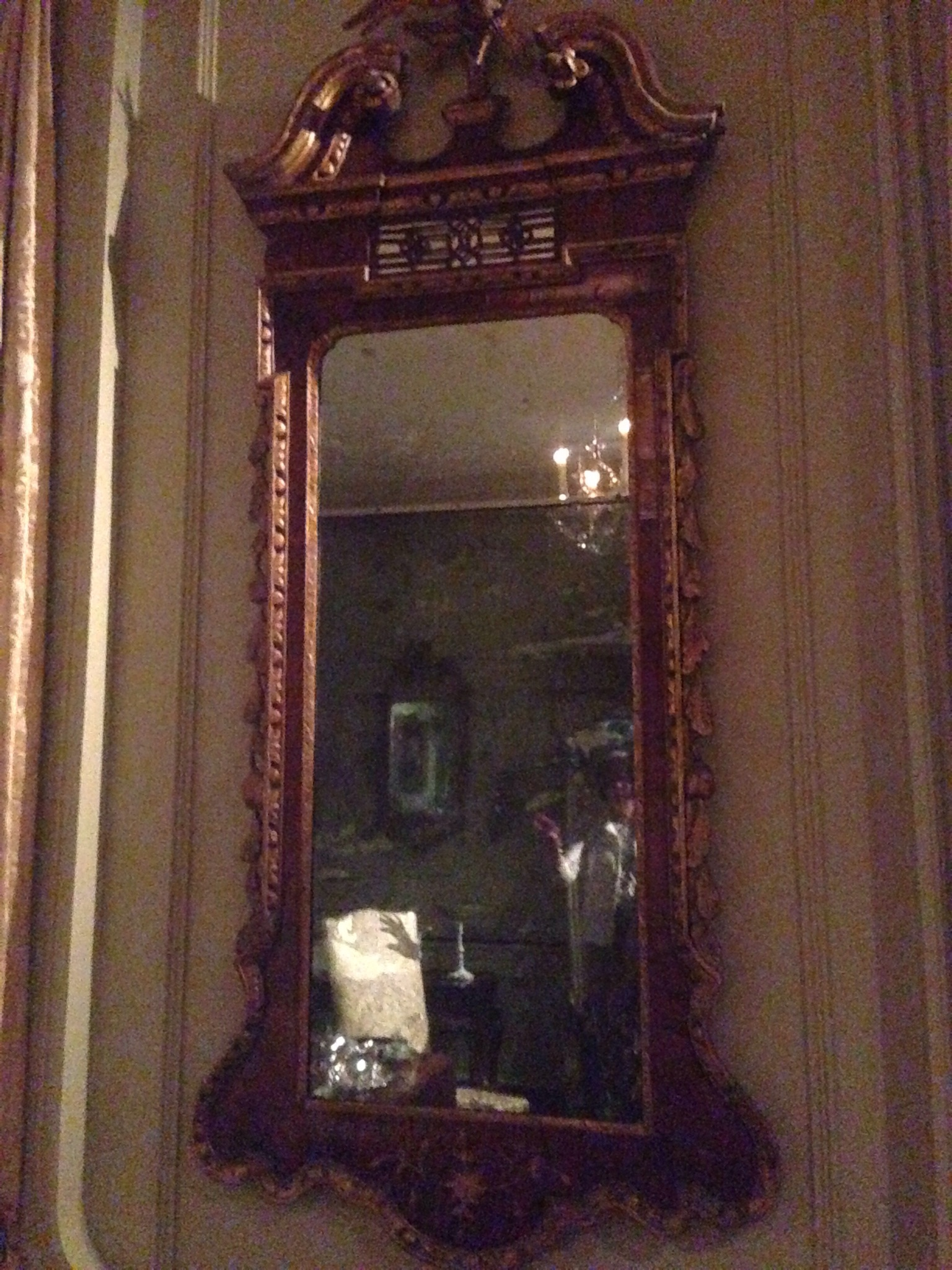 This looking glass was owned by Martha Washington