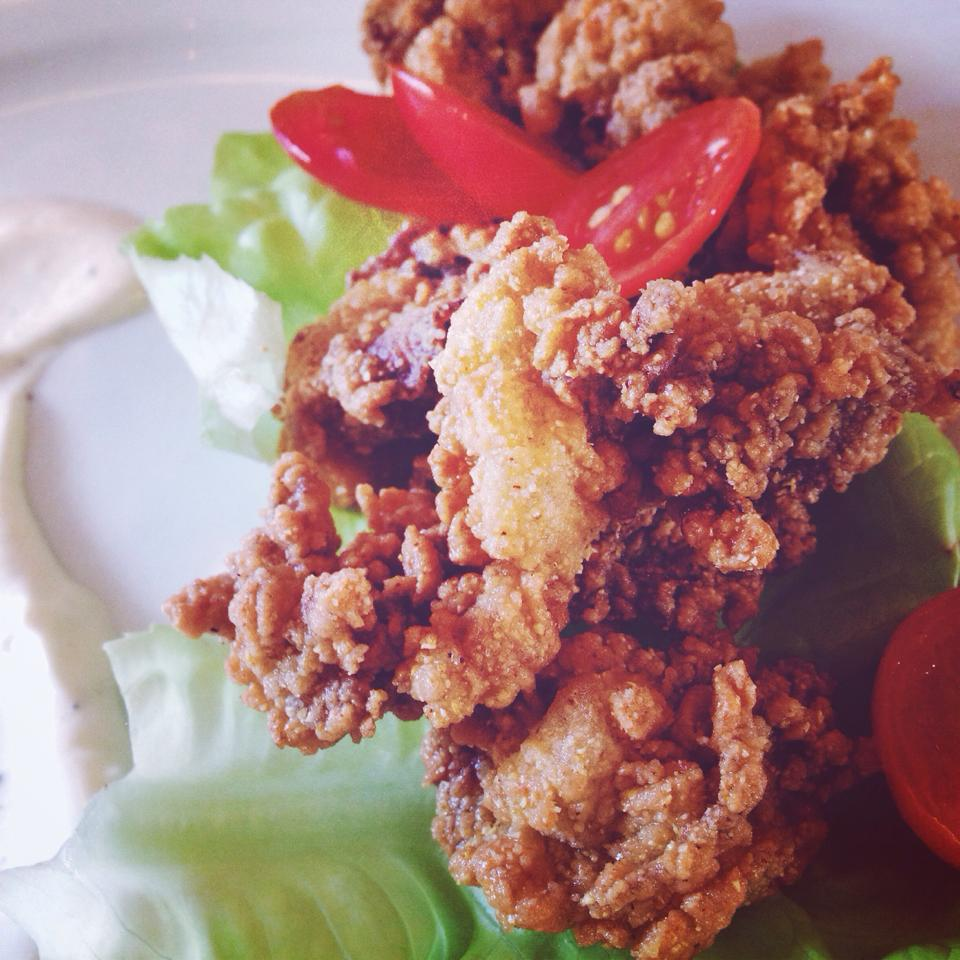 fried smoked oysters