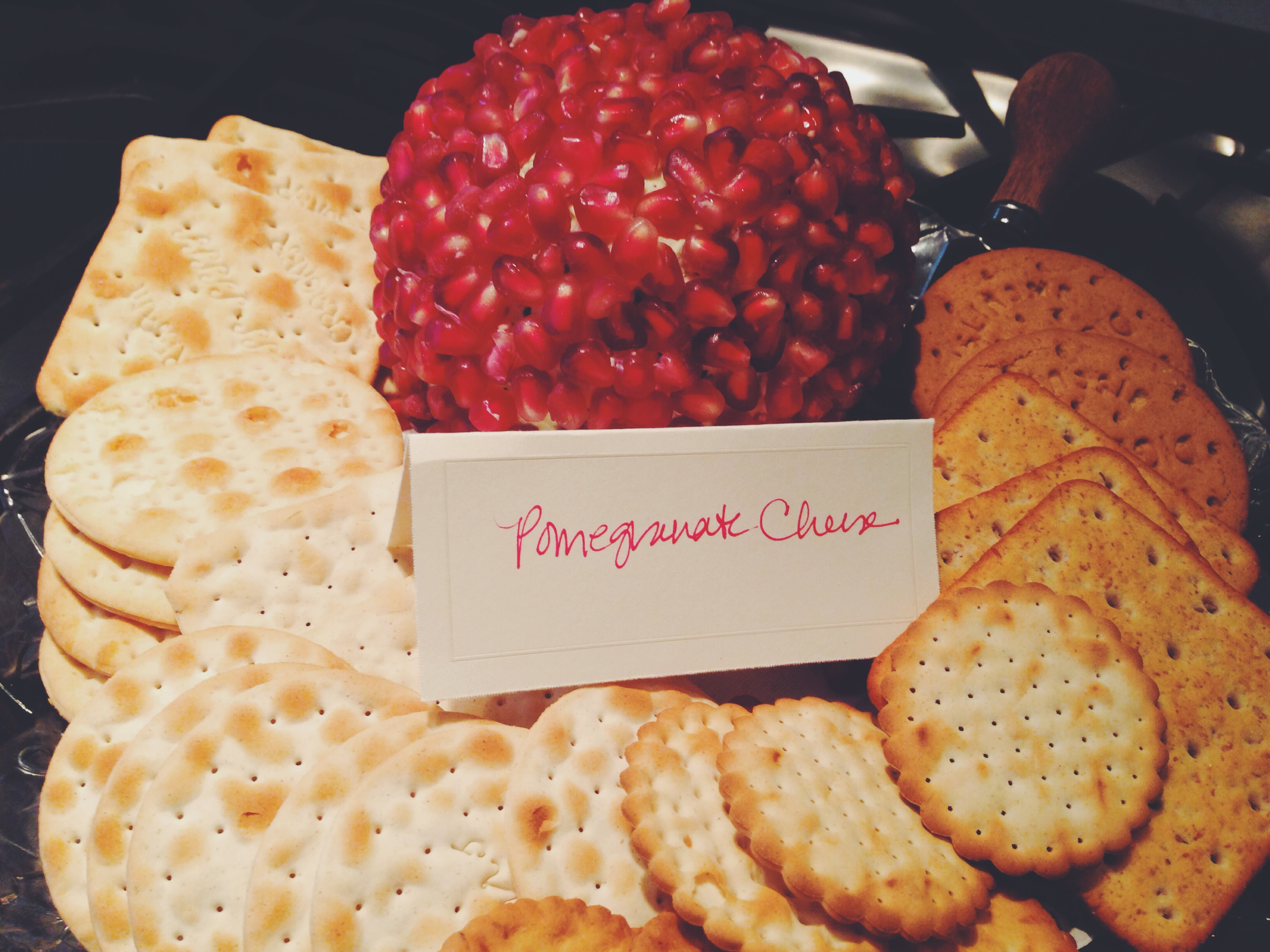 Pomegranate cheese