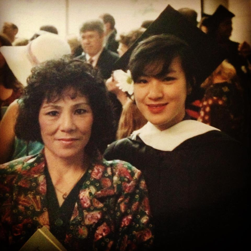 My mama & me at my graduation a few years (OK OK +20) ago.